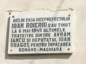 Placa memoriala Ioan Boeriu