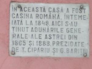 Placa memoriala Casina romana Abrud