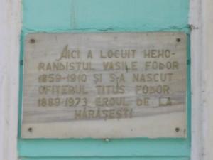 Placa memoriala casa familiei Fodor Abrud